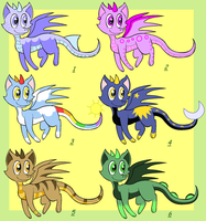 Points Adoptables: Dragons by Mesmeromania