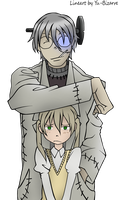 Stein and Maka Color by TheFlagmaker