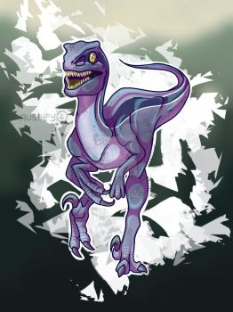 Blue the Velociraptor by aussify