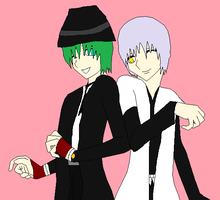 Gin And Hazama by Shin-Fei