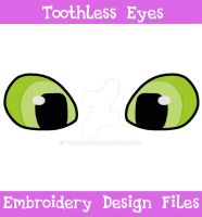 Toothless Eyes [EMBROIDERY FILE] by TheHarley