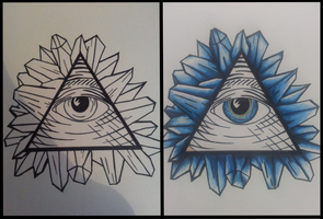 Illuminati Eye w/ Crystal Shards. (Stage 1/2) by C-Gray