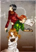 Pet Project - The Golden Trio by kandismon