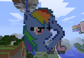 Rainbow Dash Pixel Art by I-Am-CrazyP