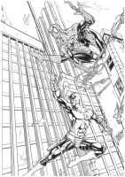 Spider-man and Daredevil by Lightwolf-of-GOD