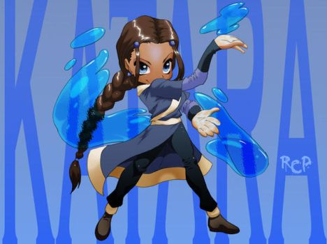 Katara Chibi Commish by Robaato