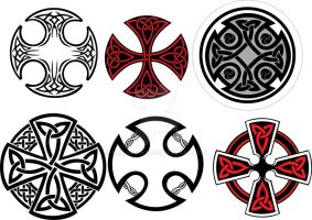 Celtic Crosses by aca-spawn