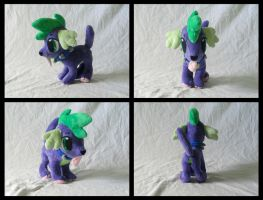 Spike dog plush by Rap-Monstah