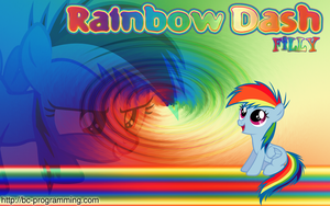 Rainbow Dash Filly Wallpaper by BC-Programming