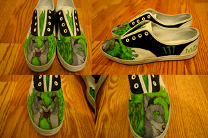 Custom Monster Shoes by Tellequin