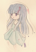 Watercolor Rika-chan by Casadriss