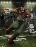 Final Fantasy Football 7: Barret - Running Back by Cerberust