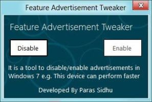 Feature Advertisement Tweaker by parassidhu