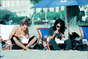 on the beach by MurderxAlemania