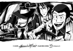 "LUPIN III ""3 in 500"" by handesigner"
