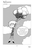 Doodles comic page 1 Balloons by 42luna