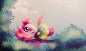 Tiny Love (Spritzee and Natu) by fra-92