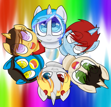 Group of Ponez by Ashlynneatscookies