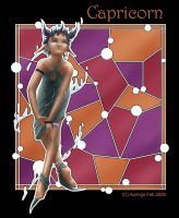 Stained Glass-Capricorn by Aoringo