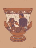 Hades and Persephone Urn by LisaBueno