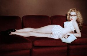 Betty Brosmer Colorized by ritter99
