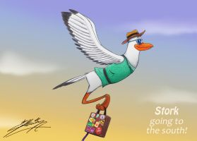 Stork going to south! by SAGADreams