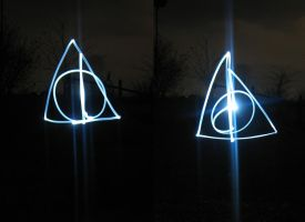 Deathly Hallows Light Graffiti by BookWizard