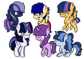 Twilight's Mane 6 by Tij2ji