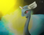 Dragonair painting by DJ--cat