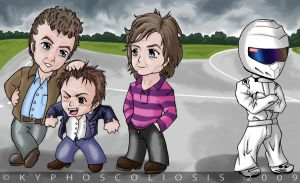 Top Gear Chibi Group by kyphoscoliosis