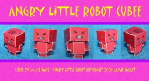 Angry Little Robot by mikedaws