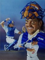 Baseball's Mike Piazza by Paluso4art