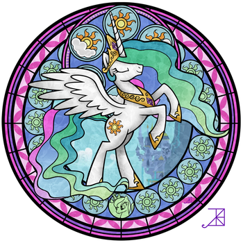 Stained Glass: Celestia -take 3- by Akili-Amethyst