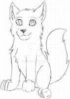 Unfinished Wolf Pup by AsaRawr