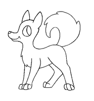MSPaint Friendly Husky Lineart by PenguinBombSquad