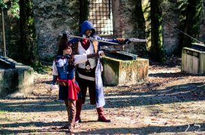 Side by Side - Arno and Elise Cosplay by uhavethekey