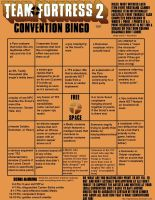 TF2 Convention Bingo by MightOfClubs