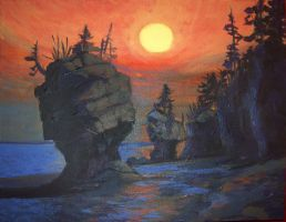 Hopewell Rocks by comixjammer