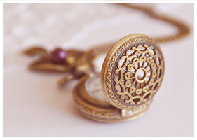 antique pocket watch necklace by Leviana
