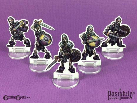 Undead Skeletons 28mm Paper Miniatures by Pasiphilo