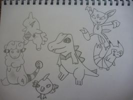 Pokemon Team Gen II by Necrophilliacness