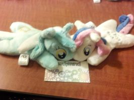 Lyra and Bon Bon 2.0 Pocket Ponies by NerdyMind
