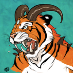 Striped and Furious by badkittyamy