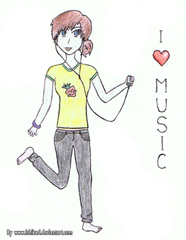 I love music. by Ishikari