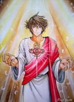 Sacred heart of Jesus by Dark-kanita