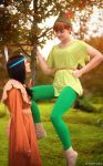 Peter Pan and Tiger Lily by Paper-Cube