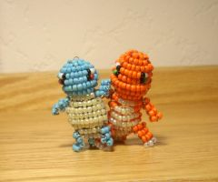 Squirtle and Charmander by superpsyduck