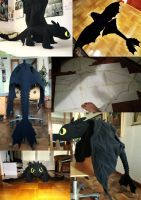 Toothless collage by Sherlockian