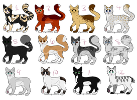 Feline adoptables [4/12] by IcedAdopts