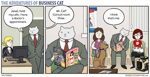 The Adventures of Business Cat - Waiting Room by tomfonder